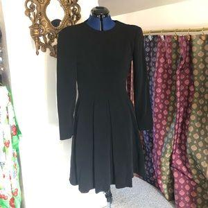 Giorgio Armani long sleeved classic black dress 4